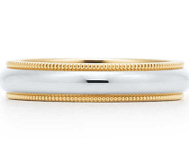 Tiffany Classic™ Milgrain Ehering in Platin und 18 Karat Gold