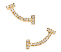 Tiffany T Smile Ohrringe in 18 Karat Gold mit Diamanten