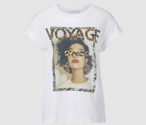 Voyage-Statement-T-Shirt im Print-Mix