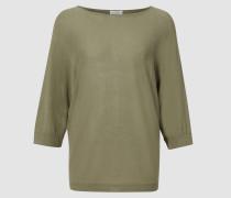 Halbarm-Pullover mit U-Boot-Ausschnitt