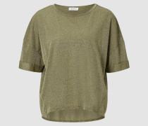 Lurex-T-Shirt im boxy Schnitt