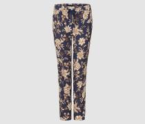 Scuba-Hose mit Blütenprint