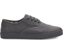 Graue Canvas Cordones Sneaker