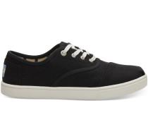 Schwarze Canvas Cupsole Cordones Sneaker
