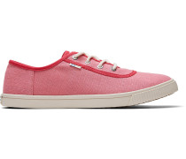 Rote Canvas Carmel Sneakers