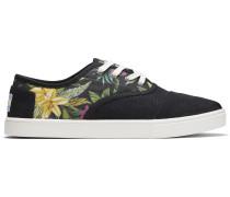 Schwarze Floral Cordones Sneakers