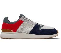 Rote Marineblaue Nubuck Mesh Arroyo Sneakers