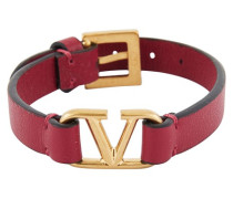 Armband Vlogo aus Leder Valentino Garavani