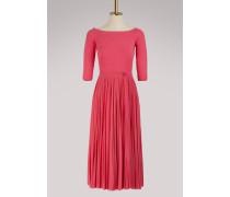 Midi-Kleid mit nackten Schultern