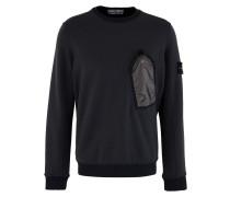 Pocket round-neck sweatshirt