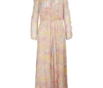Langes Kleid aus Seidenkrepp
