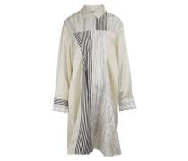 Gestreiftes Patchwork-Kleid aus Viskose