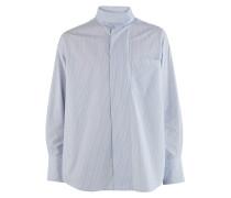 Hemd mit drapiertem Kragen