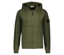 Zipped hooded sweatshirt in cotton
