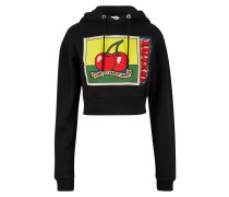 Cropped Sweatshirt Matchbox mit Kapuze