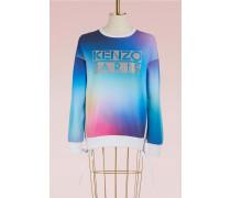 Pullover aus Baumwolle mit Nordlicht-Muster