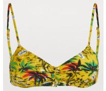 Bikini-Top mit Palmenprint