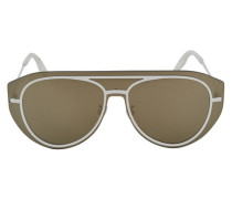 Brille Pilot Shield aus Metall