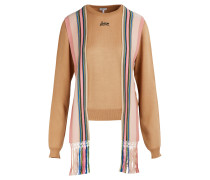 Pullover mit gestreiften Bändern