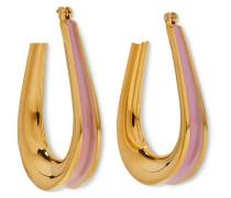 Ellipse - Ohrringe mit Emaille-Details