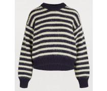 Gestreifter Oversize-Pullover