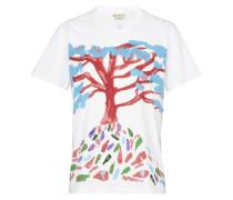 T-Shirt mit Baumaufdruck