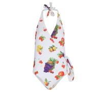 Einteiliger Badeanzug mit Obstprint