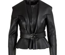 Peplum-Jacke aus Leder