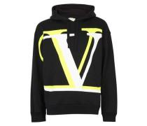 Sweatshirt mit 2D-Neonlogo Valentino Garavani