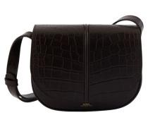 Tasche Betty aus geprägtem Krokodil- und Samtleder
