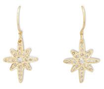Ohrringe Alpha XL aus Silbergold und Diamanten