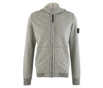 Flecked cotton zipped hoodie