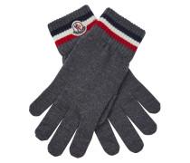 Gestreifte Handschuhe mit Logo