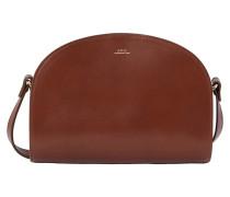 Halbmond-Tasche aus dickem Leder