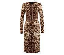 Leopardenseidenkleid