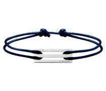 2,5 polished and brushed sterling silver cord bracelet