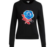 Sweatshirt mit Blumenaufdruck