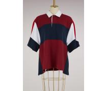 Oversized Jersey-Poloshirt