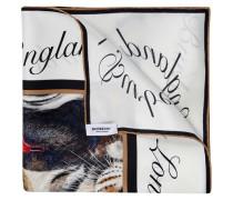 Bedrucktes Tuch Zebra aus Seide