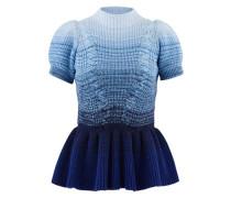 Pullover mit kurzen Ärmeln und Rüschen