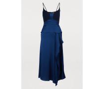 Schulterfreies Midi-Kleid