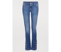 Jeans Pyper mit Säumen und Druckknöpfen