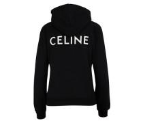 Bedrucktes Fleece-Sweatshirt CELINE mit Kapuze