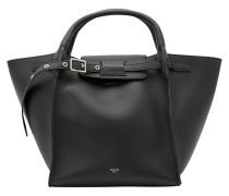 Tasche Big Bag aus glattem Kalbsleder, kleines Modell