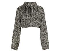 Kurzer Pullover aus Lurex