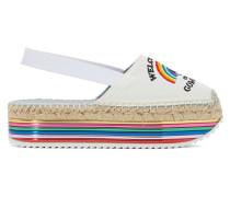 Espadrilles Rainbow mit Keilabsatz