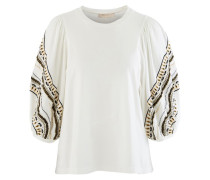 Baumwoll-T-Shirt Noline mit Rundhalsausschnitt