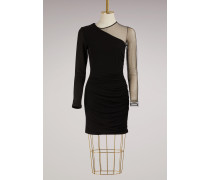 Asymetrisches Kleid mit Faltenwurf