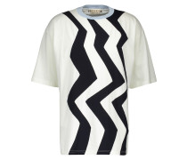 T-Shirt aus Baumwolle Optical