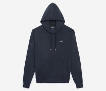 sweatshirt mit kapuze und logo-detail